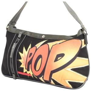 Prada Pop Comic 233063 Black X Orange Nylon Shoulder Bag