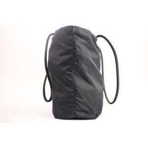 Prada 856806 Black Nylon Tote  Shoulder Bag