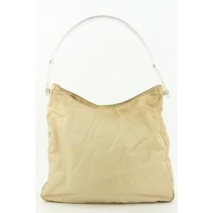 Prada Beige Nylon Tessuto Hobo Bag 23pr114