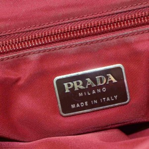 Prada Burgundy Tessuto Nylon Tote 860995W