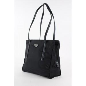 Prada Black Nylon Tessuto Tote Bag 14PR1216