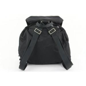 Prada Black Nylon Tessuto Twin Pocket Backpack 917pr414