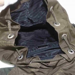 Prada Twin Pocket Double Khaki 872995 Green Nylon Backpack