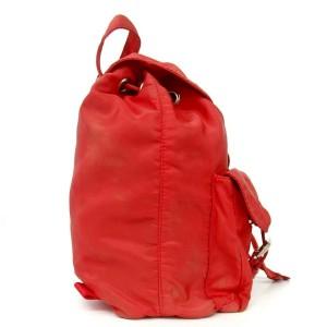 Prada Red Twin Pocket Backpack Tessuto Bookbag 858404