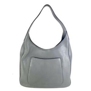 Prada Vitello Daino Charcoal Pocket 1b1013 Grey Leather Hobo Bag