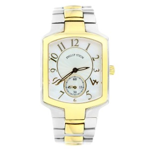 Philip Stein Women Classic Two-Tone Gold Plated Bracelet Watch