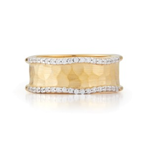 I.Reiss 14K Yellow Gold 0.22 Ring Size 7