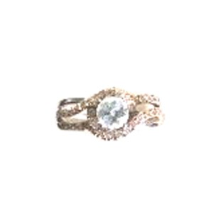 14K Two Tone Gold Diamond Engagement Ring