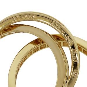 Cartier 18k Yellow Gold 1.55ctw Diamond Trinity Ring