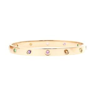Cartier Love Bracelet R/G Colored Stones Size 18