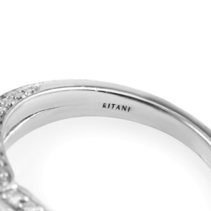 Ritani 18K White Gold Diamond Engagement Ring
