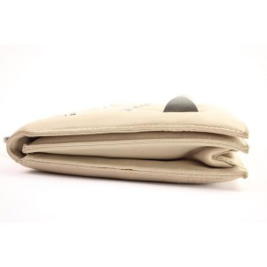 Roberto Cavalli Studded Satchel 23rca104 Blush-beige Leather Clutch