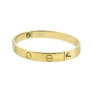 Cartier 18k Yellow Gold Vintage Aldo Capulo Love Bracelet Size 16