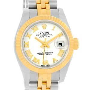 aa596ec1854a Rolex Datejust 179173 Stainless Steel   18K Yellow Gold White Dial 26mm  Womens Watch