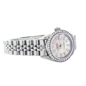 Rolex Datejust 69174 26mm Mother Of Pearl Diamond Baguette Watch