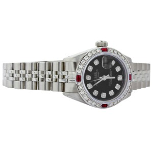 Rolex Datejust 6917 Stainless Steel Diamond & Ruby 26mm Womens Watch