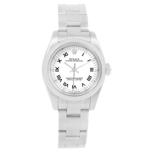 27b68de8a0de Rolex Oyster Perpetual 176200 Stainless Steel White Dial Automatic 26mm  Womens Watch