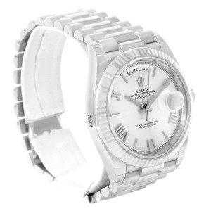 Rolex President Day-Date 228239 18K White Gold Automatic Mens 40mm Watch