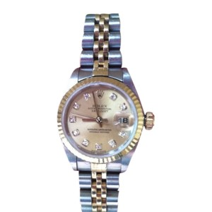 Rolex Datejust Stainless And 18K Yellow Gold Diamond Watch