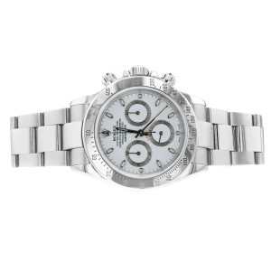 Rolex Daytona Chronograph Steel White Dial Mens 40mm Automatic Watch