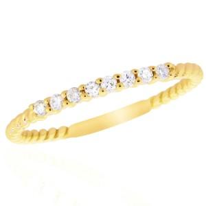 14k Yellow Gold Diamond Ring Size 7