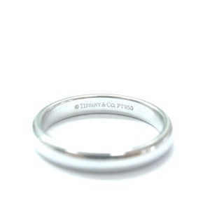 Tiffany & Co. Lucida Platinum Wedding Band Ring Size 4