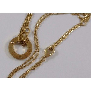 Cartier Love 18K Yellow  Gold Diamond Pendant Necklace