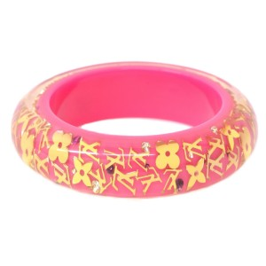 Louis Vuitton Plastic and Gold Tone Hardware Bangle Bracelet