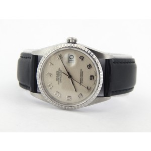 Mens Rolex Stainless Steel Datejust White Arabic 16220