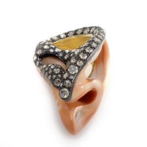 Seashell Multi-Gold & Diamond Ring