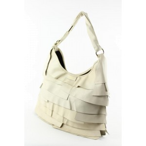 Saint Laurent YSL Ivory Leather Large St. Tropez Hobo Bag 1ysl1223