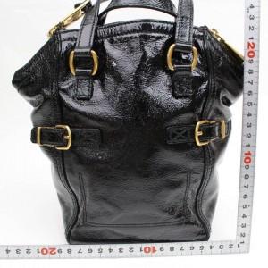 Saint Laurent Downtown 868591 Black Patent Leather Tote