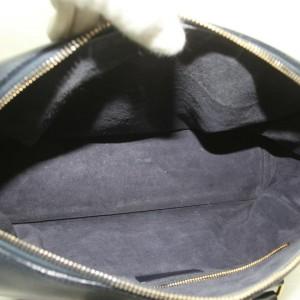 Saint Laurent Duffle Bag 12 872735 Navy Blue Leather Satchel