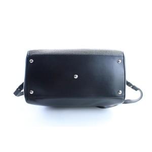 Saint Laurent Duffle Studded 6 Hour 10mr0503 Black Leather Weekend/Travel Bag