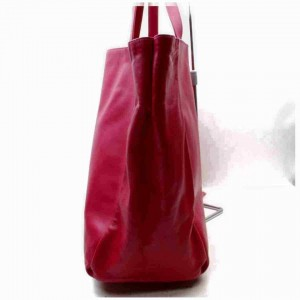 Saint Laurent East-West Shopper Hot Pink Leather Tote with Pouch 860028