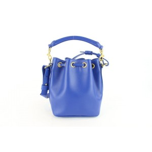 Saint Laurent Emmanuelle Bucket Classic Small 2way 1mz0130 Blue Leather Cross Body Bag
