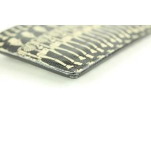 Saint Laurent Grain de Poudre Skeleton 5 Fragments Zip Pouch Card Holder 18ysl1230