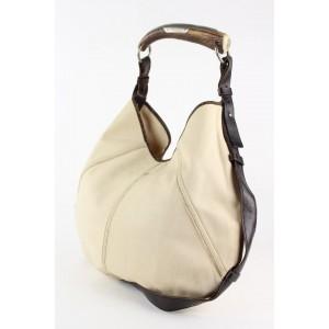 Saint Laurent Ivory Mombasa Horn Hobo Bag 7ysl1228