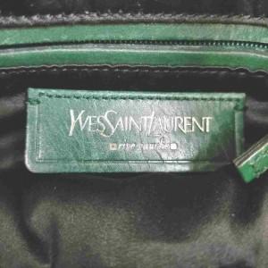 Saint Laurent Hobo Ysl Rive Gauche Zip 860077 Green Leather Shoulder Bag
