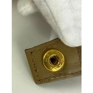 Saint Laurent YSL Gold Large Monogram Clutch Cosmetic Toiletry Make Up Bag 6YSLS127