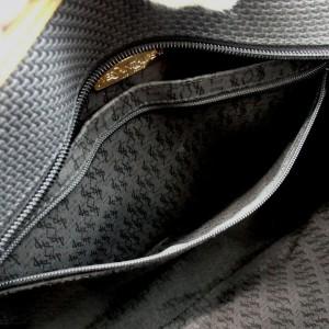 Saint Laurent Black YSL Logo Studded Tote  Bag 857880