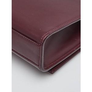 Saint Laurent YSL Maroon Calfskin Leather Medium Kate Tassel Chain Crossbody 860473