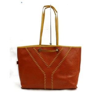 Saint Laurent Reversible Neo Double 871924 Brown Leather Tote