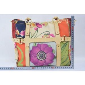 Salvatore Ferragamo Animal Floral Multicolor Floral Shopper Tote 858769