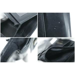 Salvatore Ferragamo Black Leather Gancini Logo Compact Wallet 16FK0113