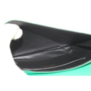 Salvatore Ferragamo Emerald Chain Flap 23mz1102 Green Leather Shoulder Bag