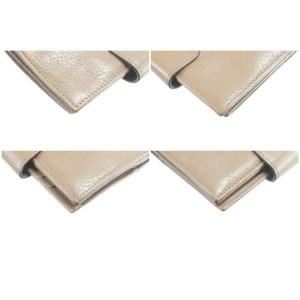 Salvatore Ferragamo Gancini Logo Nude Long Leather Flap Wallet 10FK0113