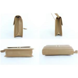Salvatore Ferragamo Nude Wristlet 15mz0904 Brown Leather Clutch