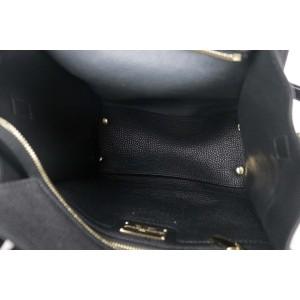 Salvatore Ferragamo Black Pebbled Leather Mini Amy Tote 2way 1SFK1127