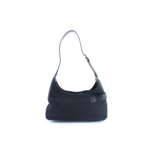 Salvatore Ferragamo Hobo Signature 6mr0213 Black Canvas Shoulder Bag